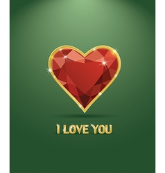 Valentines day luxury diamond heart vector