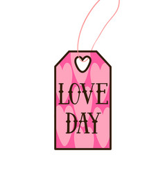 valentines day tag modern typography label cloth vector image
