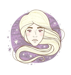 virgo zodiac sign vector image