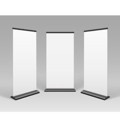 White Blank Roll up Business Banner Stands vector