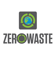 zero waste badge or emblem design vector image
