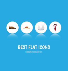 Flat icon clothes set of male footware elegant vector