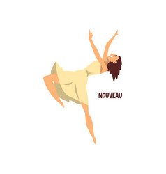 girl dancing nouveau dance on vector image