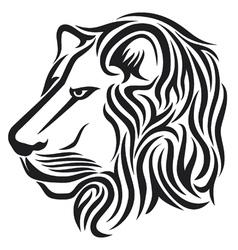 Lion head tribal tattoo vector image vector image