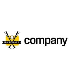 logo for baseball league vector image vector image