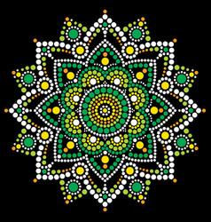mandala dot art aboriginal dot painting vector image