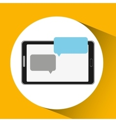 mobile cellphone dialogue talk icon vector image