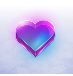 neon heart vector image vector image