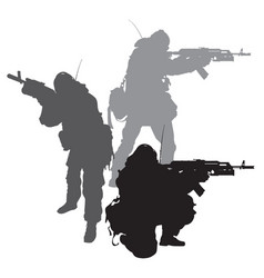 spetsnaz silhouettes vector image
