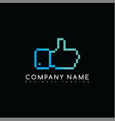 Thumb up brand company template logo logotype art vector