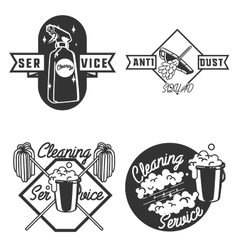 Vintage cleaning service emblems vector image vector image