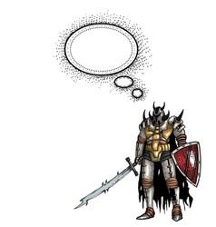 warrior with sword-100 vector image vector image