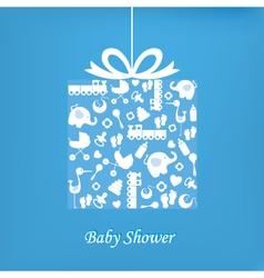 Baby boy birth card vector