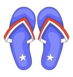 Independence day slippers icon cartoon style vector