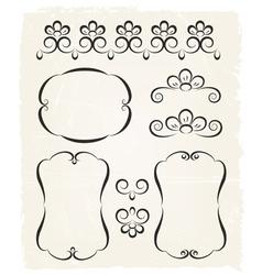 Vintage calligraphic design elements vector image vector image