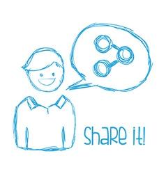 share it design vector image