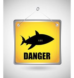 shark design vector image vector image