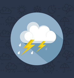 weather storm thunderstorm icon vector image