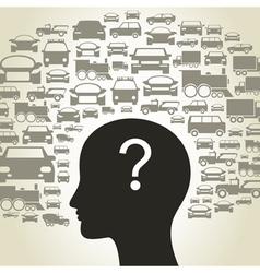 Car a head3 vector image vector image