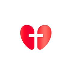 christian symbol cross negative space silhouette vector image