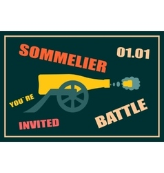 Design for wine event Sommelier battle party vector image vector image