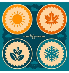 Four seasons design vector image vector image