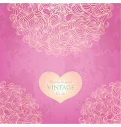 Pink template design for card vector image vector image