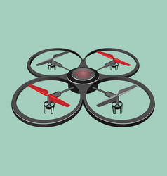 quadrocopter isolated on light green background vector image
