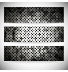 Set of horizontal banners Background with shiny vector image