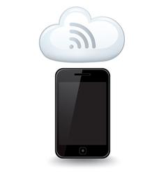 Smart Phone WiFi Cloud vector image vector image