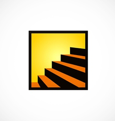 stair interior design abstract logo vector image vector image
