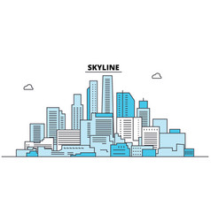 abstract skyline city skyline architecture vector image