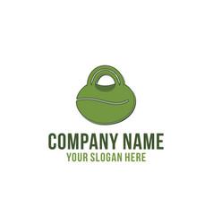 bag and coffee bean coffee shop logo designs vector image