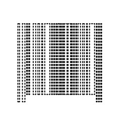 bar code sign black dashed icon on white vector image