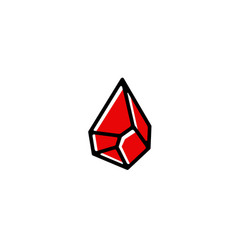 blood stone drop logo icon vector image