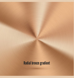 bronze radial texture with scratches metallic vector image