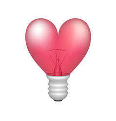 Bulb in shape of heart vector