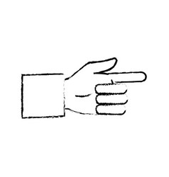 business man hand pointing successful icon vector image