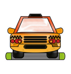 Cab flat scribble vector