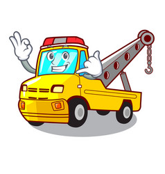 Call me tow truck for vehicle branding character vector