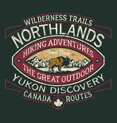 canada hiking trail wild north discovery vector image
