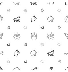 cat icons pattern seamless white background vector image