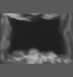 cloudy frame smoky fog smoke effect and vector image