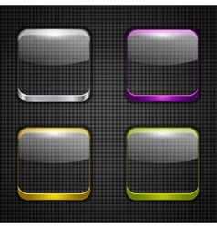 Colored app buttons set vector