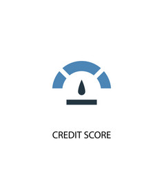 Credit score concept 2 colored icon simple blue vector