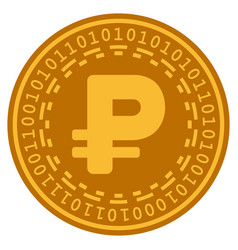 Cryptorouble digital coin vector