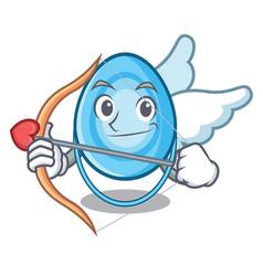 cupid oxygen mask character cartoon vector image