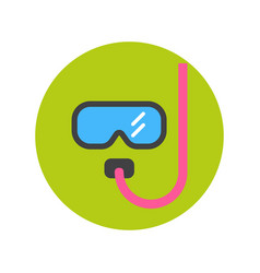 diving mask icon underwater glasses equipment vector image