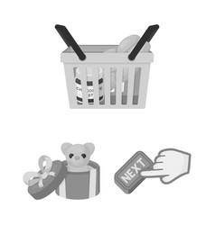E-commerce and business monochrome icons in set vector
