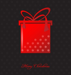 Elegant christmas background with christmas gift vector